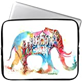 "Elonbo 13-Inch Fashion Colorful Elephant Waterproof Neoprene Laptop Soft Sleeve Case Bag Pouch Cover for 13.3"" Macbook Pro / Air"