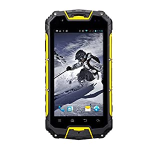 Sunvito Snopow M8C 4.5 inch HD Screen Android 4.4 IP68 Waterproof / Dustproof / Shockproof Smart Phone, MTK6572 Dual Core 1.3GHz 8GB ROM 1G RAM 5MP Dual Cameras 3G Phone (Yellow)