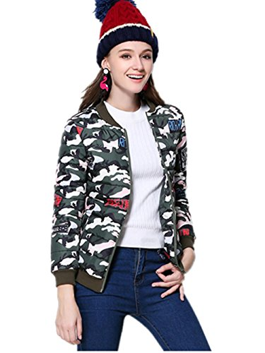 XYXY Womens Winter leggero piumino Camouflage cappotto . xl