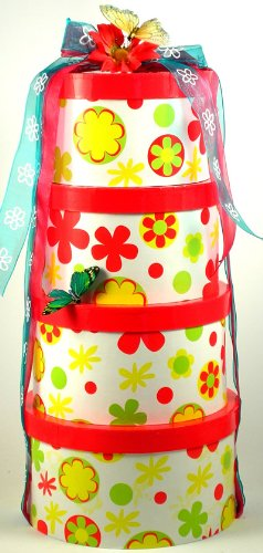 Flower Power Tower - Deluxe Gift Tower