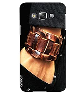 Omnam Boy Wearing Leather Strap In Hand Close Look Designer Back Cover Case For Samsung Galaxy E5