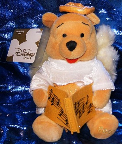"DISNEY MINI BEAN BAG CHOIR ANGEL WINNIE THE POOH 8"" by Disney"