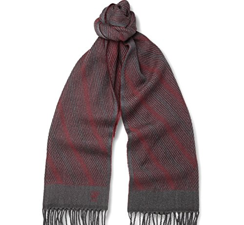 canali-mens-red-patterned-woven-wool-scarf-grey-red