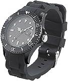 St. Leonhard Sportliche Silikon-Quarz-Armbanduhr klassisch schwarz