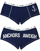 Women's Blue ANCHORS AWEIGH Booty Shorts