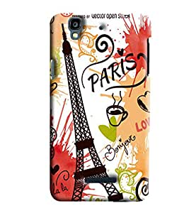 Clarks Eiffil Tower Inspired Hard Plastic Printed Back Cover/Case For Micromax Yu Yureka