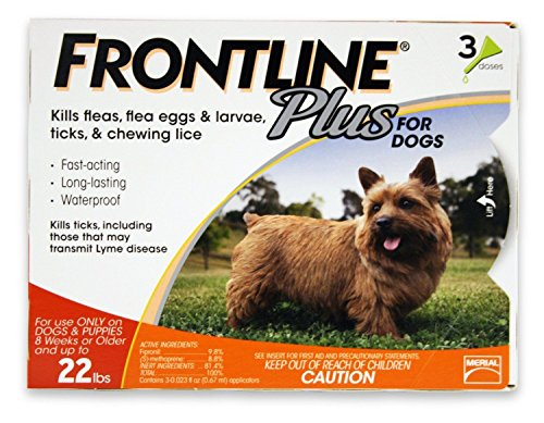 Frontline Plus Orange 3 Pk For Dogs 0-22 Lbs