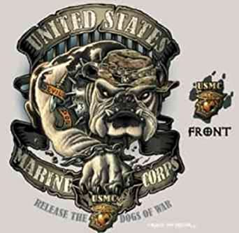Tan USMC Devil Dog T-Shirt 80355 Size X-Large