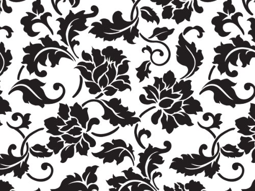 Cello Bags Black Floral Borcade Large - Pack of 20