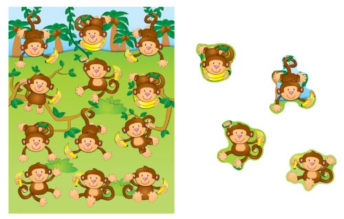 Carson Dellosa Monkeys Shape Stickers (168076)