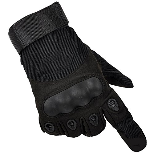 [gloves outdoor full finger army gloves antiskid sports @ SORNBA (BLACK, XL)] (Soulwalker Costume)