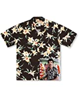 Paradise Found Star Orchid Black Tom Selleck Magnum PI #2 Hawaiian Shirt