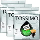 Bosch Tassimo 'Carte Noire - Cafe Long' 16 T Disc Coffee Machine Capsules (Pack of 3)