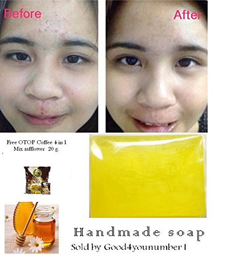 Glutathione Whitening Mix Honey Lemon Soap 70 G. Vitamin C Acne Skin,Face Personal Care Handmade Soap Super White