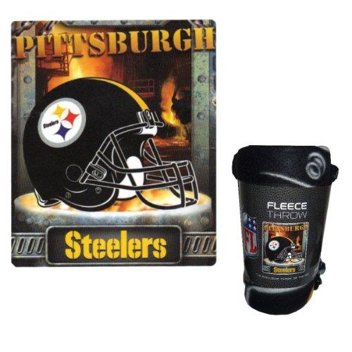 NFL 50x60 inch Steelers Steel Furnace City Throw Blanket