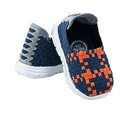 Heal USA Kids 4Cs Unisex Shoes/White Outsole Navy Blue/Orange 11 US