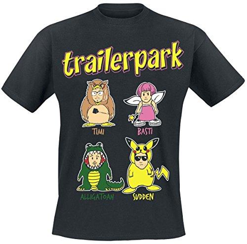 Trailerpark Comic T-Shirt nero M