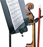 String Swing CC08 Violin Hanger with Bow Peg Attachment for Music Stand