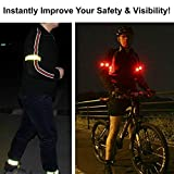Reflective Armband or Ankle Band - High Visibility Outdoor Gear For Arm, Wrist, Leg or Ankle Use - Increased Safety for Running, Cycling, Walking, Kids & Pets (2-Pack)