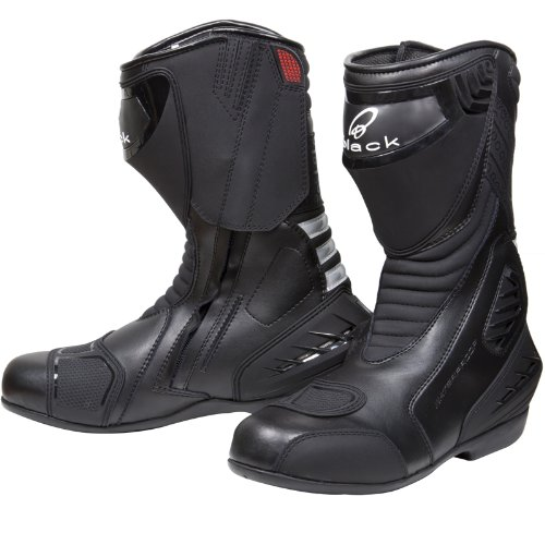 Black Strike Motorcycle Boots 43 Black (UK 9)