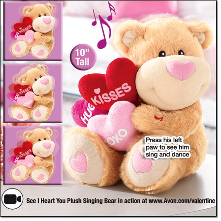 Adorable I Love You Heart Bear Sings the hit