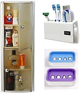 Cipla Plast Cipla Plast CiplaPlast Crystal Bathroom Cabinet White