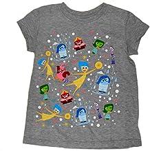 Disney Pixar Little Girls Inside Out Character Tee