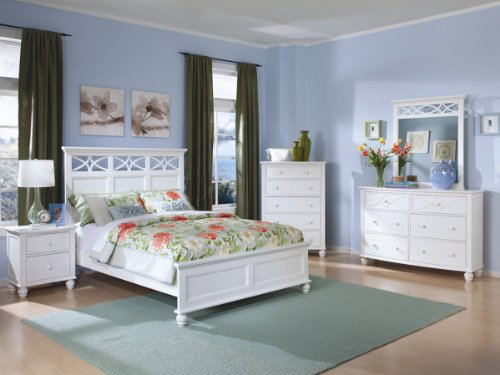 Sanibel 5 Pc Queen Bedroom Set With Chest By Home Elegance In White front-965272