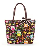 Quilted OWL Print Tote Bag.