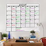 OfficeThink Laminated Jumbo Calendar, Huge 36-Inch by 48-Inch Size, Extra Large Date Boxes, Heavy Duty Laminate/Paper, Never Folded, Perfect for Organizing, Easy Erase, Bonus 3M Mounting Tape Included