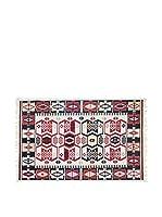 Tapis a Porter Alfombra Doubleface Osman Rojo/Marfil/Multicolor 100 x 200 cm