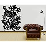 Decal Style Sparrow Wall Sticker Medium Size- 16*21 Inch