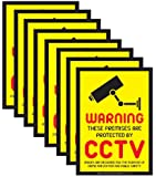 8 x CCTV Warning Security Stickers Signs for Internal or External use