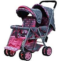Adelina Designer Double Stroller (Pink)