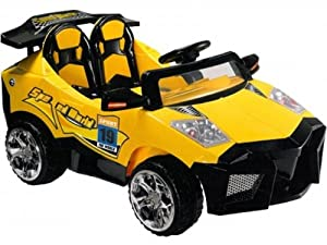 Mini Motos 12V Battery Powered Super Car Color: Yellow