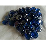 250g (approx 57) Decorative Round Cobalt Blue Glass Pebbles...15-20mm