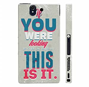 Sony Xperia Z This Is It! designer mobile hard shell case by Enthopia