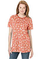 Perfect Collection Women's Plus Size Perfect Print Crew Neck Tee