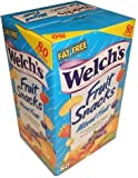 Welchs Fruit Snacks, Mixed Fruit, Fat Free Snacks, (80-0.9oz. Pouches Per Box)
