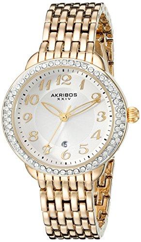 Akribos XXIV AK831YG 33mm Metal Case Metal Synthetic Sapphire Women's Watch