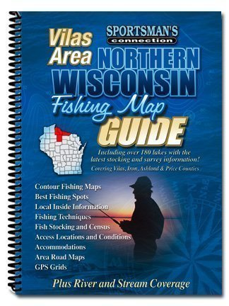 Northern Wisconsin Vilas City Area (Fishing Maps from Sportsman's Connection)