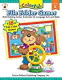 Colorful File Folder Games, Grade K: Skill-Building Center Activities for Language Arts and Math (Colorful Game Books Series)