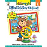 Colorful File Folder Games, Grade K: Skill-Building Center Activities for Language Arts and Math (Colorful Game Books Series) ~ Debra Olson Pressnall