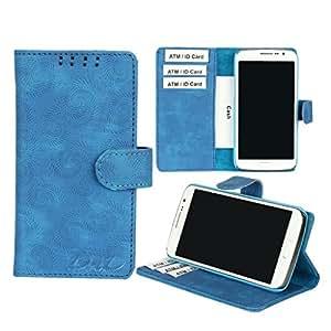 D.Rd Flip Cover Case For Motorola Moto G4 Plus (Blue)