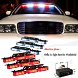 Nilight® Red White 54x LED Emergency Service Vehicle Deck Grill Warning Light - 1 Set
