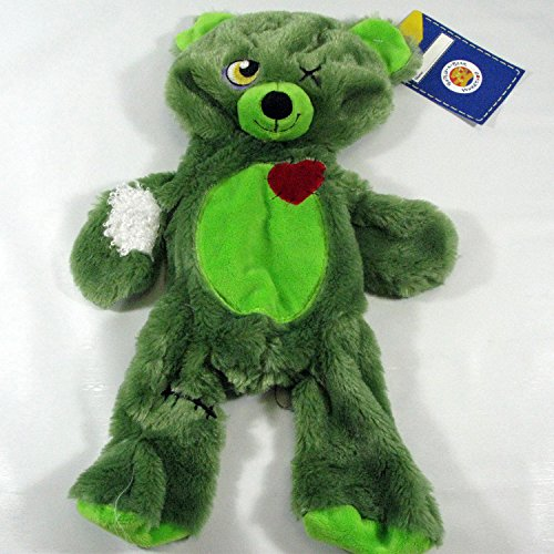 Build a Bear Zombear Teddy Green Halloween 16 in. Unstuffed Plush Toy Animal