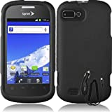 ZTE VALET Z665C BLACK RUBBERIZED COVER SNAP ON HARD CASE + FREE CAR CHARGER from [ACCESSORY ARENA]