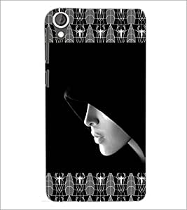 PrintDhaba Girl In Shade D-4093 Back Case Cover for HTC DESIRE 820 (Multi-Coloured)