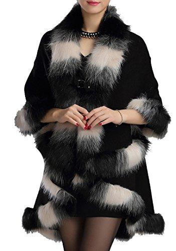 helan-damen-warmen-stil-luxus-pelz-doppelte-schicht-mantel-kap-mantel-schwarz