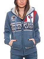 CANADIAN PEAK Sudadera con Cierre Flashy (Azul)